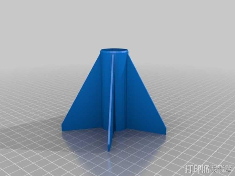五鳍火箭 3D模型  图1