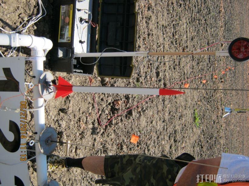 五鳍火箭 3D模型  图3