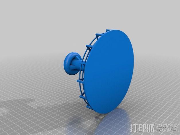 火星基地太阳能烟囱 3D模型  图2