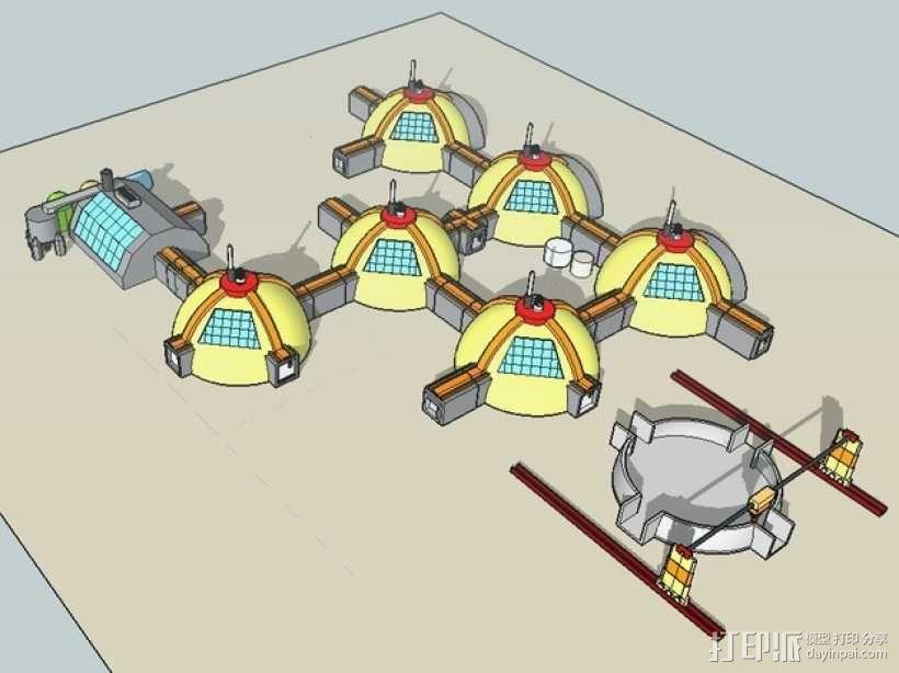 GALILEO伽利略火星基地 3D模型  图1