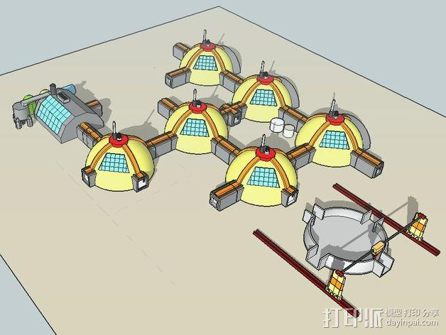 GALILEO伽利略火星基地 3D模型  图12