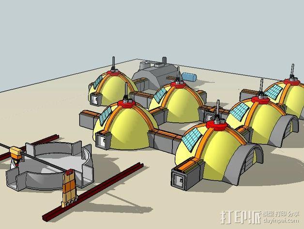 GALILEO伽利略火星基地 3D模型  图10