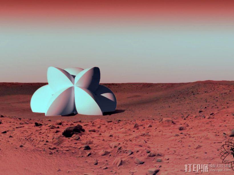 花形火星基地 3D模型  图1