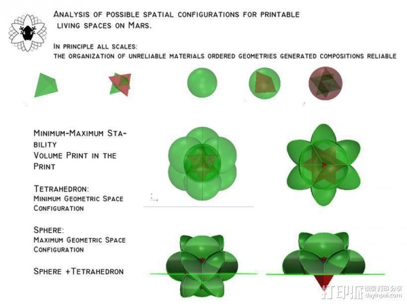 花形火星基地 3D模型  图2