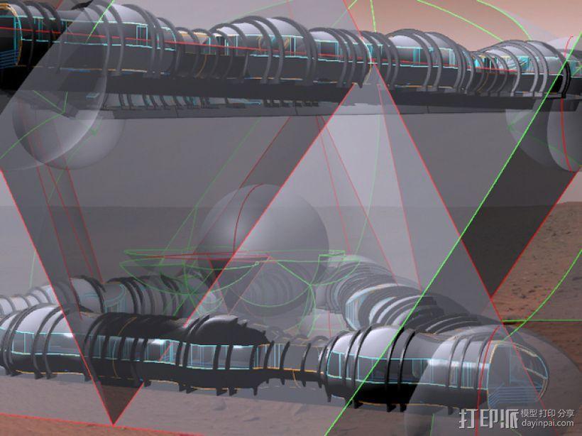 花形火星基地 3D模型  图5