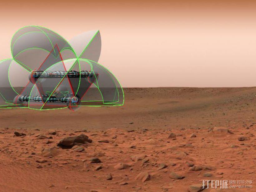 花形火星基地 3D模型  图3