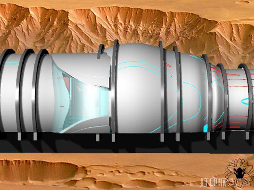 花形火星基地 3D模型  图7