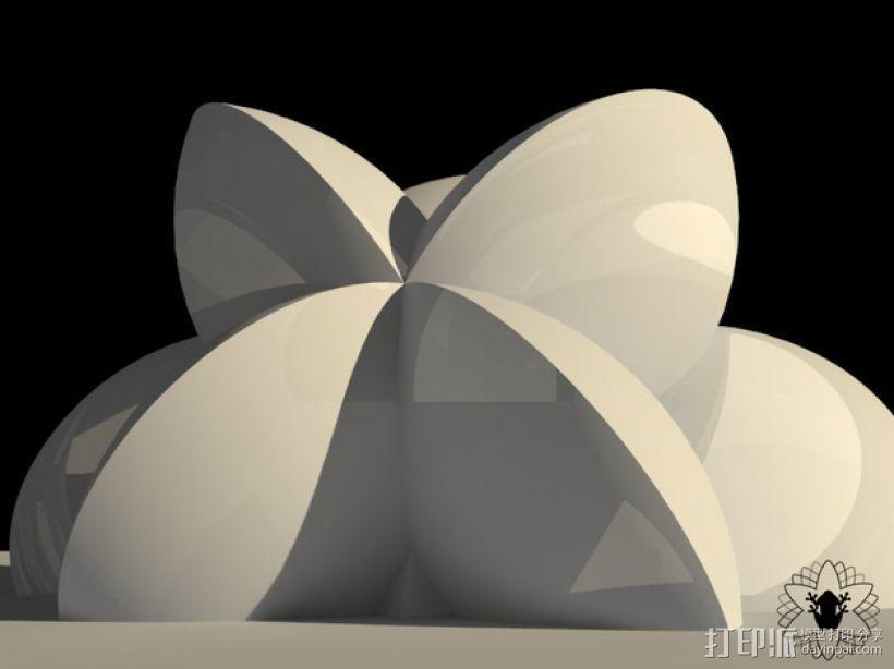 花形火星基地 3D模型  图14
