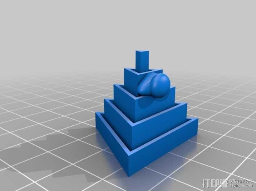 金字塔 3D模型  图1
