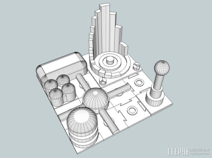 火星建筑 火星基地 3D模型  图1