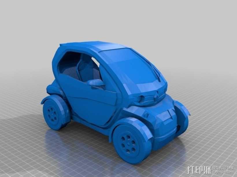 renault twizy 雷诺汽车 3D模型  图1