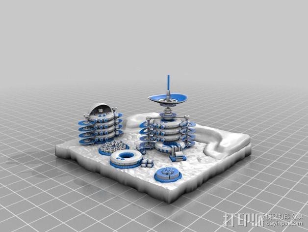 火星便携式基站 3D模型  图2