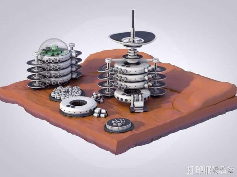 火星便携式基站 3D模型  图1