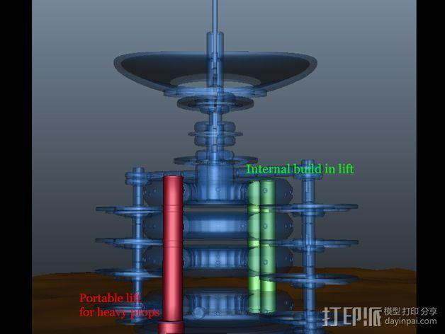 火星便携式基站 3D模型  图6