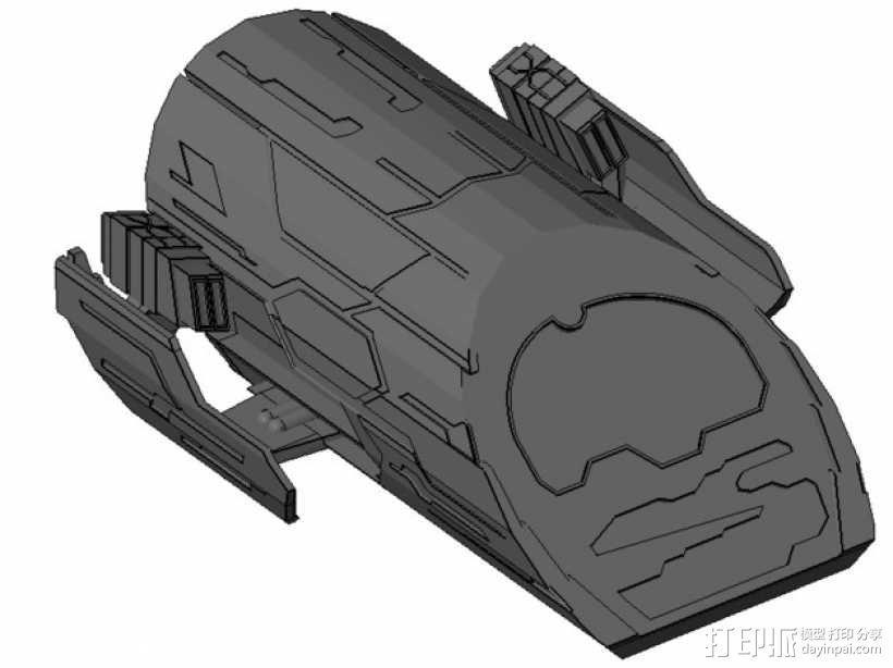 星际之门轻型飞船 3D模型  图1