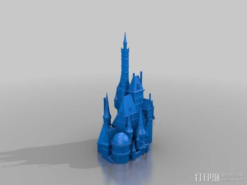 美女与野兽城堡 3D模型  图2