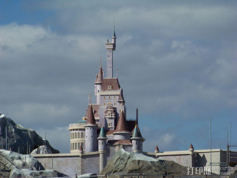 美女与野兽城堡 3D模型  图1