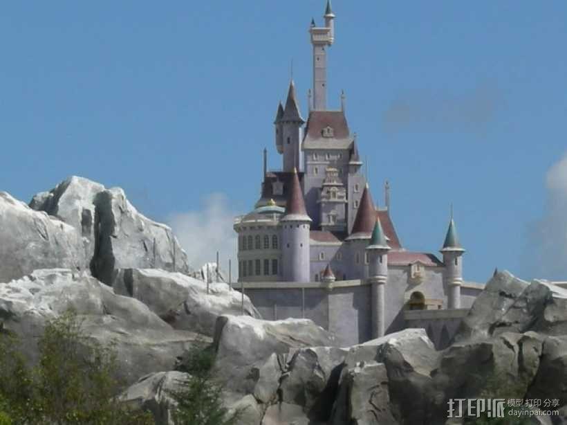 美女与野兽城堡 3D模型  图4