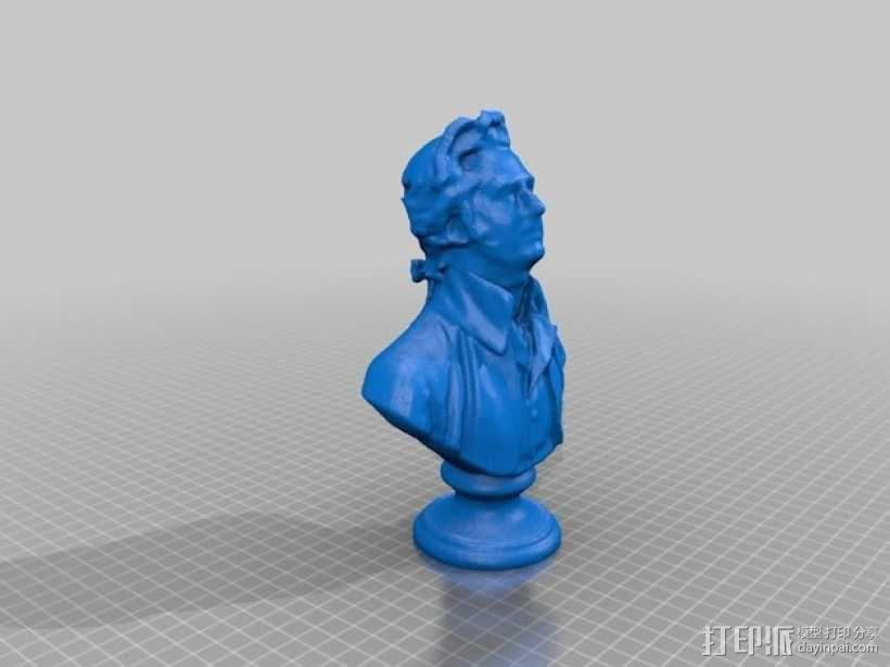 Bremas Brefferson人像雕塑  3D模型  图1
