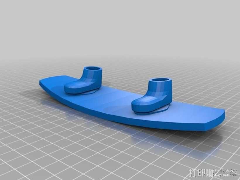 滑水板 3D模型  图3