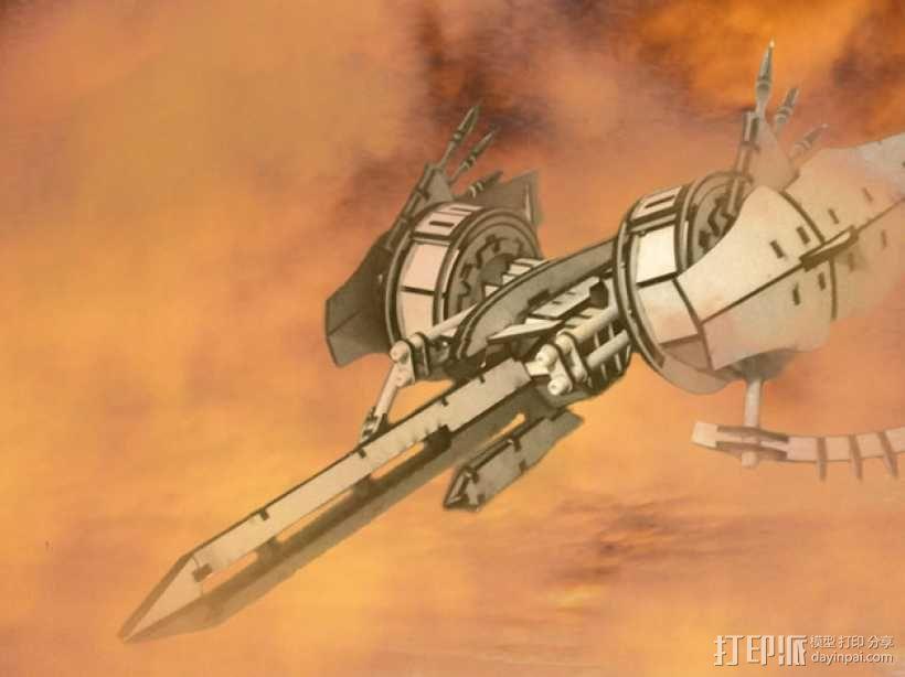 斑鸠战斗机 3D模型  图1