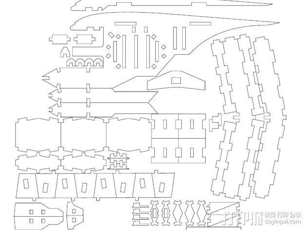 斑鸠战斗机 3D模型  图3