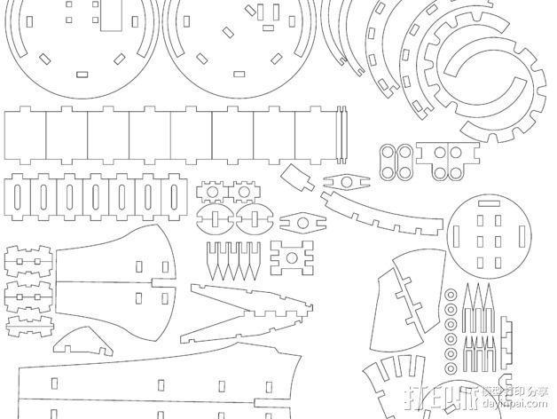 斑鸠战斗机 3D模型  图2