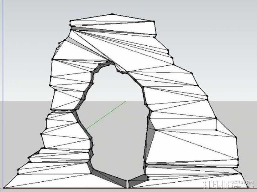 拱石门 3D模型  图2
