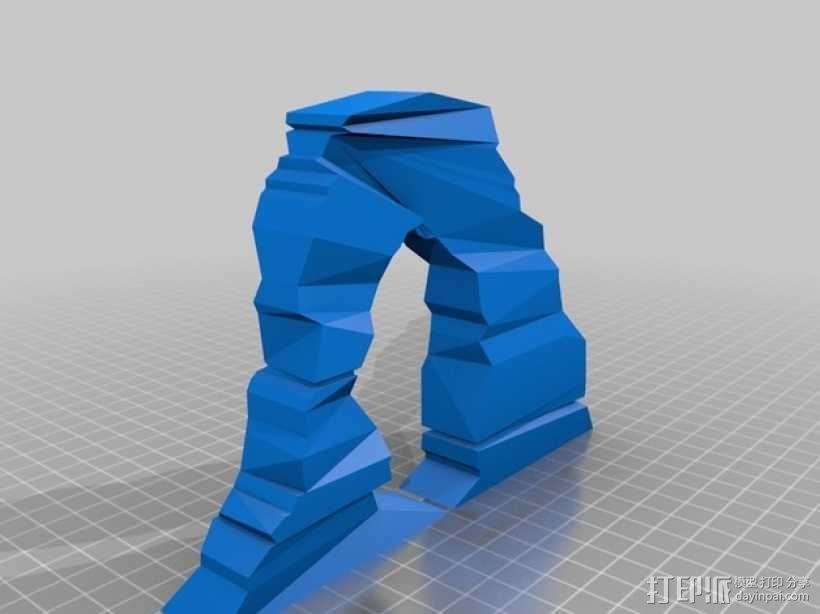 拱石门 3D模型  图3