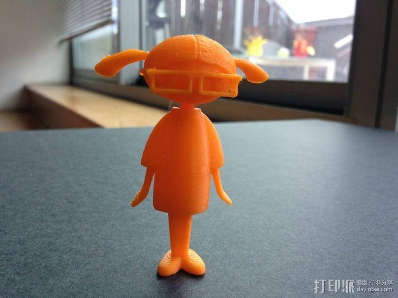 Carla人形玩偶 3D模型  图1