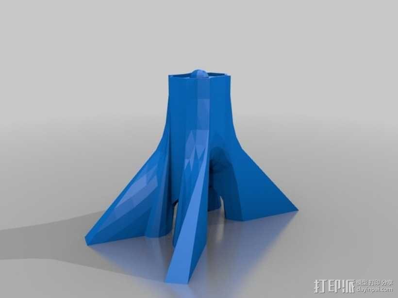 阿扎迪自由纪念塔 3D模型  图2