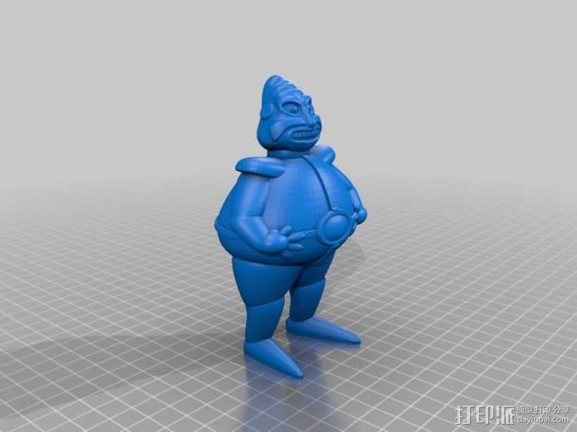 罗伯尼克博士(Dr.Robotnik) 3D模型  图1