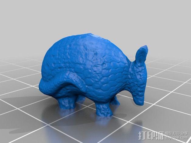 犰狳 穿山甲 3D模型  图2