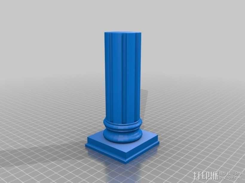 旧式柱梁 3D模型  图1