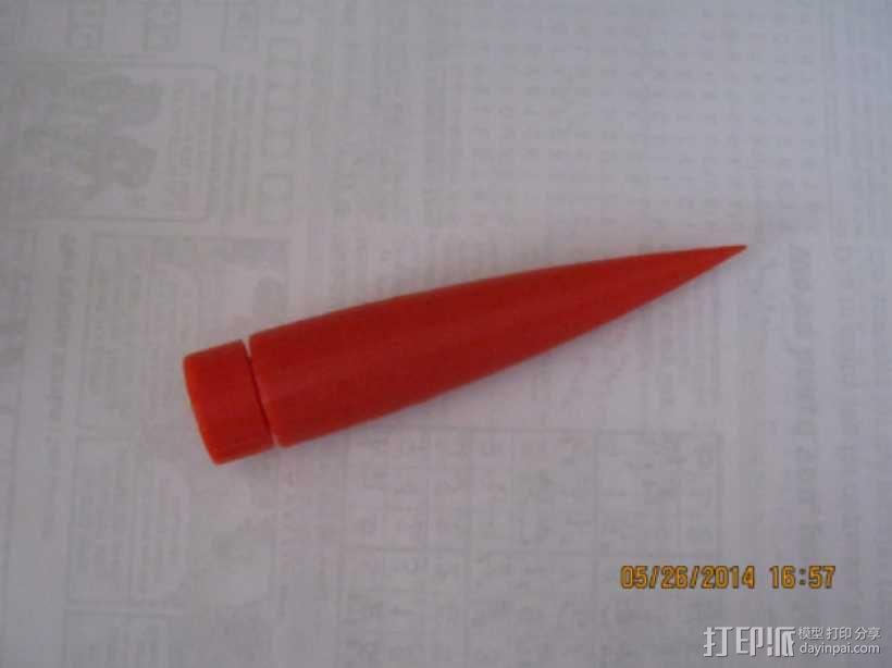 火箭鼻锥  3D模型  图1