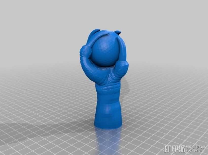 鹰爪和小球 3D模型  图1