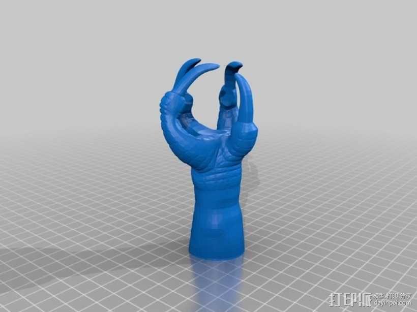 鹰爪和小球 3D模型  图3