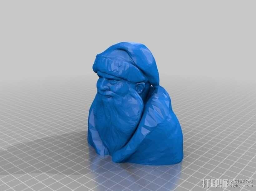 圣诞老人半身像 3D模型  图1