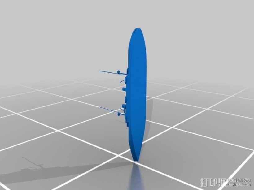 IJN Satsuma 1910战舰 3D模型  图2