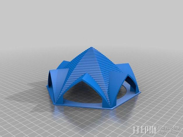 拱形屋顶 3D模型  图1