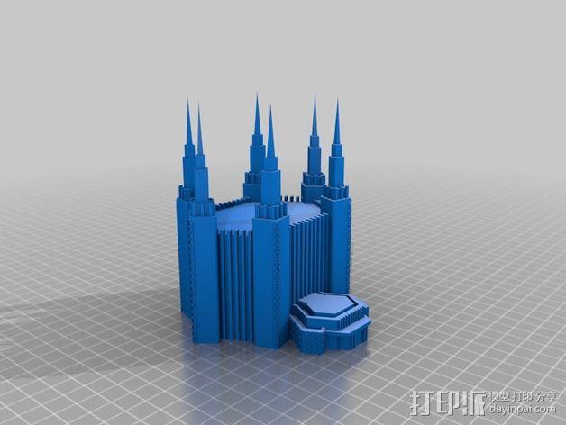华盛顿寺庙 3D模型  图2