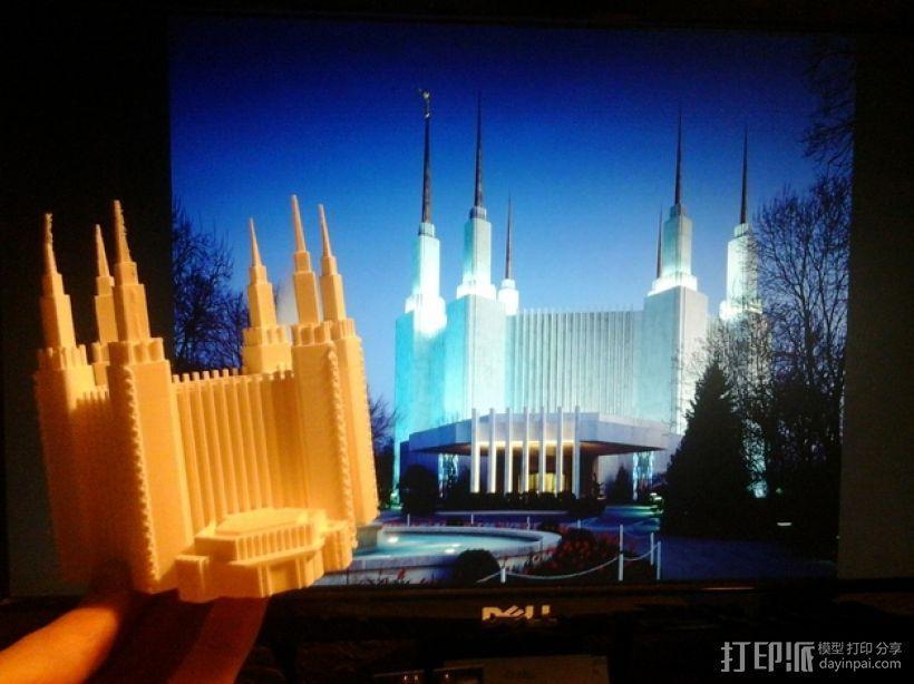 华盛顿寺庙 3D模型  图1
