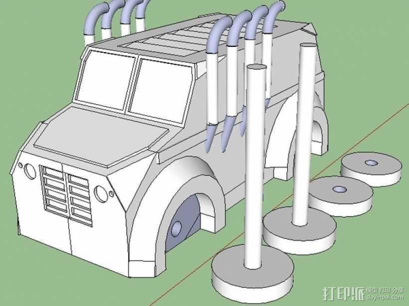 Monsta卡车 3D模型  图1