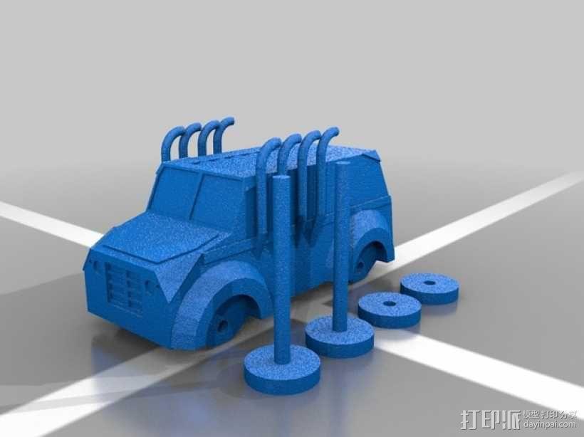 Monsta卡车 3D模型  图2