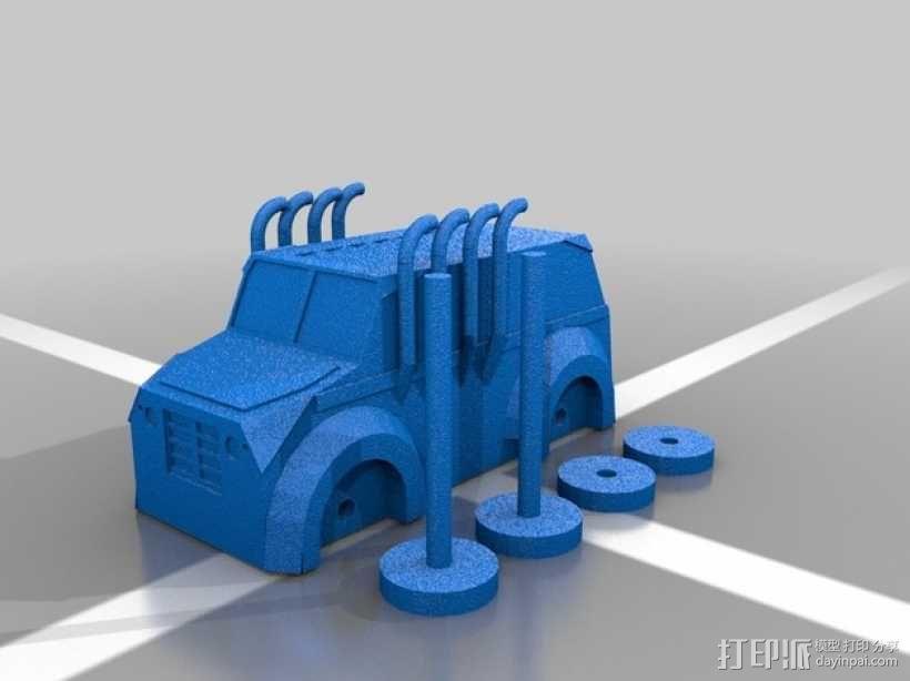 Monsta卡车 3D模型  图3