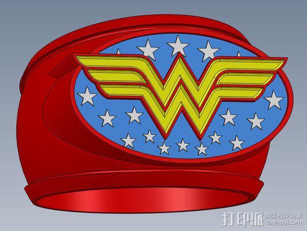 神奇女侠指环 3D模型  图1
