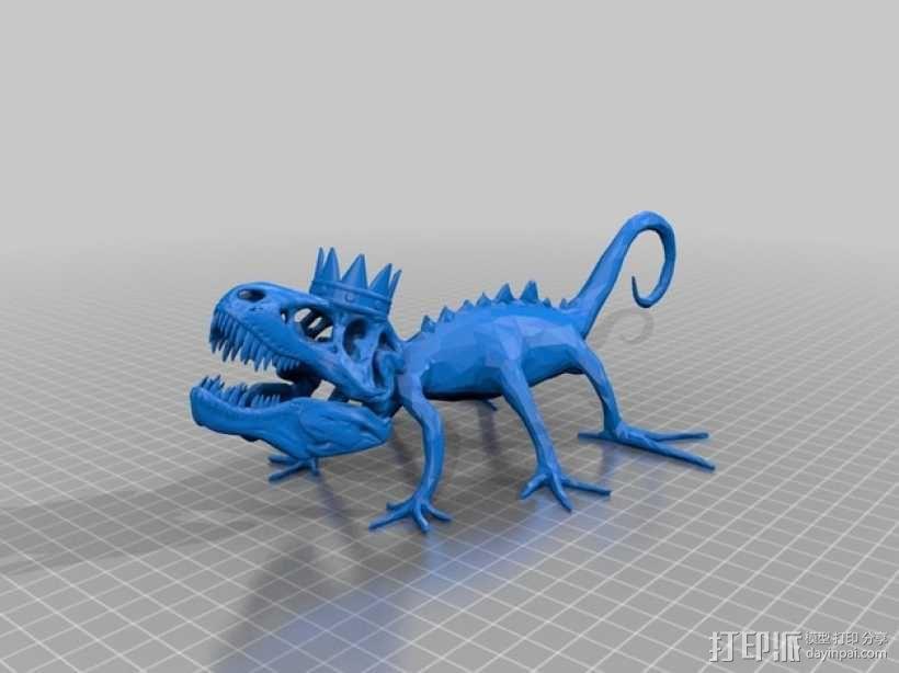 戴皇冠的霸王龙 3D模型  图1