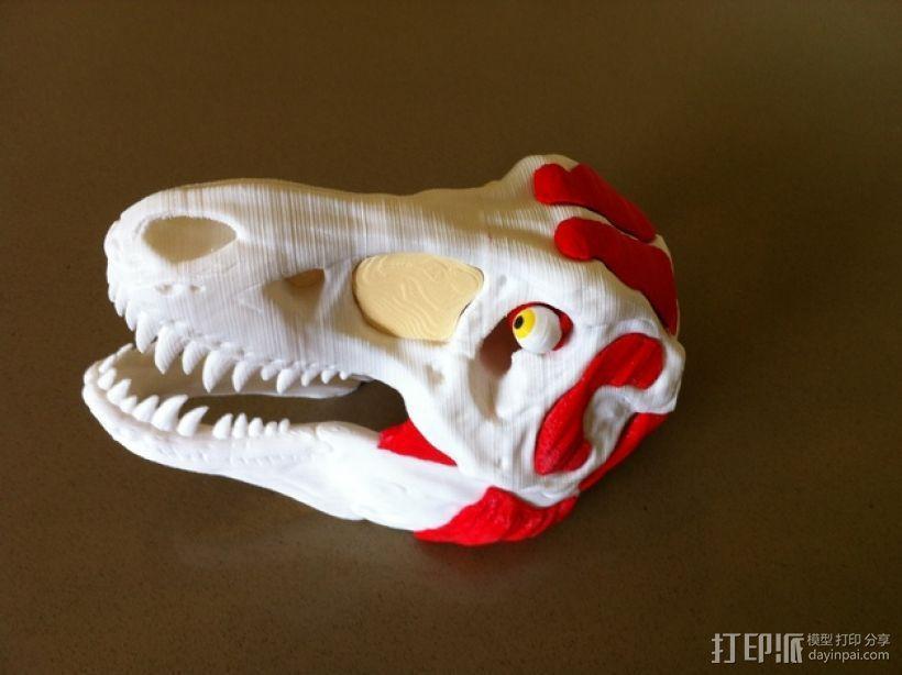 霸王龙头部肌肉组织 3D模型  图6