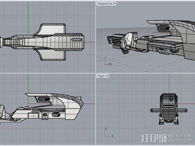 喷气自行车 3D模型  图1