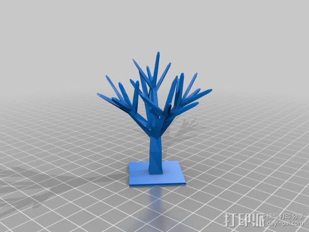 树 首饰架 3D模型  图1